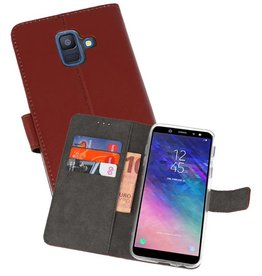 Wallet Cases Hoesje Galaxy A6 (2018) Bruin