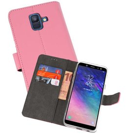 Wallet Cases Hoesje Galaxy A6 (2018) Roze