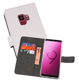 Wallet Cases Hoesje Galaxy S9 Wit