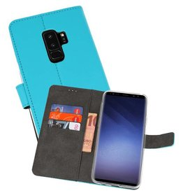 Wallet Cases Hoesje Galaxy S9 Plus Blauw