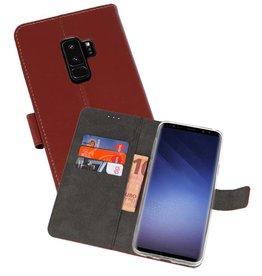 Wallet Cases Hoesje Samsung Galaxy S9 Plus Bruin