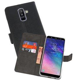 Wallet Cases Hoesje Samsung Galaxy A6 Plus (2018) Zwart