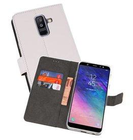 Wallet Cases Hoesje Galaxy A6 Plus (2018) Wit