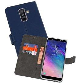 Wallet Cases Hoesje Samsung Galaxy A6 Plus (2018) Navy