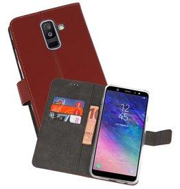 Wallet Cases Hoesje Samsung Galaxy A6 Plus (2018) Bruin