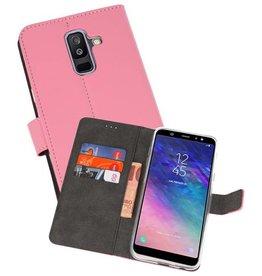 Wallet Cases Hoesje Galaxy A6 Plus (2018) Roze