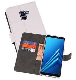 Wallet Cases Hoesje Galaxy A8 Plus 2018 Wit