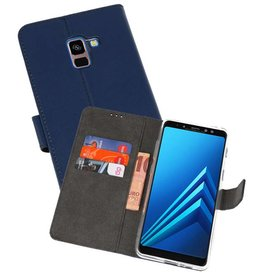 Wallet Cases Hoesje Galaxy A8 Plus 2018 Navy