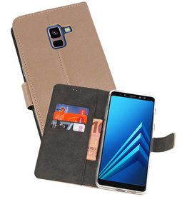 Wallet Cases Hoesje Galaxy A8 Plus 2018 Goud