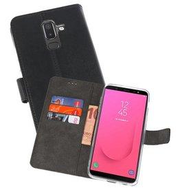 Wallet Cases Hoesje Galaxy J8 Zwart