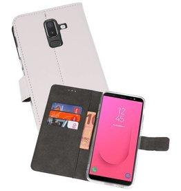 Wallet Cases Hoesje Galaxy J8 Wit