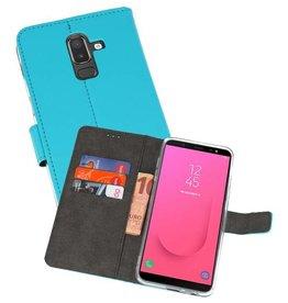 Wallet Cases Hoesje Galaxy J8 Blauw
