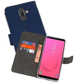 Wallet Cases Hoesje Galaxy J8 Navy