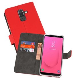 Wallet Cases Hoesje Galaxy J8 Rood