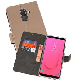 Wallet Cases Hoesje Galaxy J8 Goud
