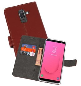 Wallet Cases Hoesje Galaxy J8 Bruin