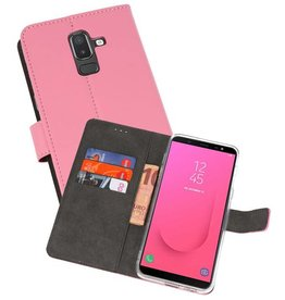 Wallet Cases Hoesje Galaxy J8 Roze