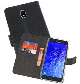 Wallet Cases Hoesje Samsung Galaxy J7 2018 Zwart