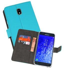 Wallet Cases Hoesje Galaxy J7 2018 Blauw