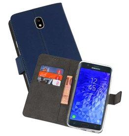 Wallet Cases Hoesje Samsung Galaxy J7 2018 Navy