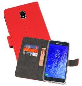 Wallet Cases Hoesje Samsung Galaxy J7 2018 Rood