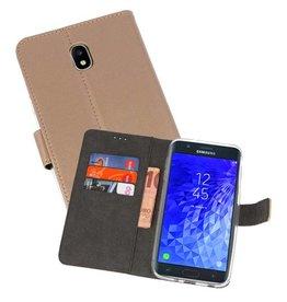 Wallet Cases Hoesje Galaxy J7 2018 Goud