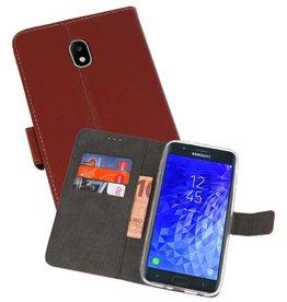 Wallet Cases Hoesje Samsung Galaxy J7 2018 Bruin