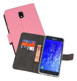 Wallet Cases Hoesje Samsung Galaxy J7 2018 Roze