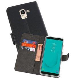 Wallet Cases Hoesje Galaxy J6 2018 Zwart