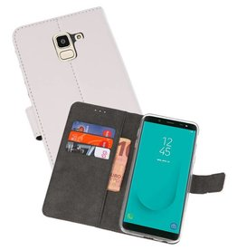 Wallet Cases Hoesje Galaxy J6 2018 Wit