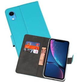 Wallet Cases Hoesje iPhone XR Blauw