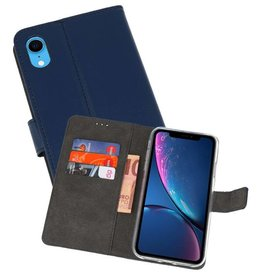 Wallet Cases Hoesje iPhone XR Navy