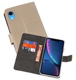 Wallet Cases Hoesje iPhone XR Goud