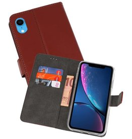 Wallet Cases Hoesje iPhone XR Bruin