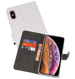 Wallet Cases Hoesje iPhone XS Max Wit