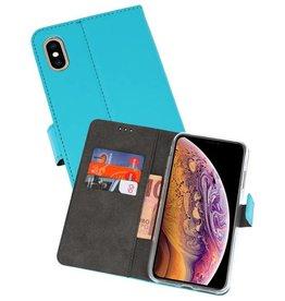 Wallet Cases Hoesje iPhone XS Max Blauw