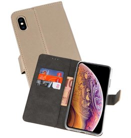 Wallet Cases Hoesje iPhone XS Max Goud