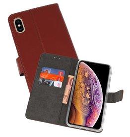 Wallet Cases Hoesje iPhone XS Max Bruin