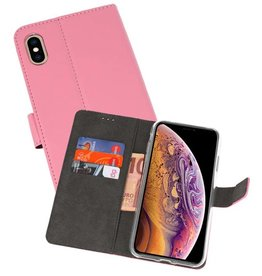 Wallet Cases Hoesje iPhone XS Max Roze