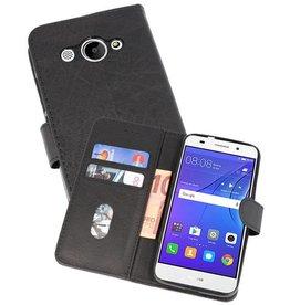 Bookstyle Wallet Cases Hoesje Huawei Y3 2018 Zwart