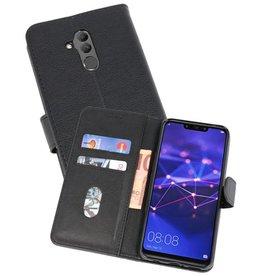 Huawei Mate 20 Lite Hoesje Kaarthouder Book Case Telefoonhoesje Zwart