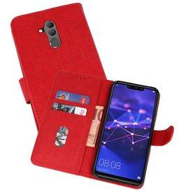 Huawei Mate 20 Lite Hoesje Kaarthouder Book Case Telefoonhoesje Rood