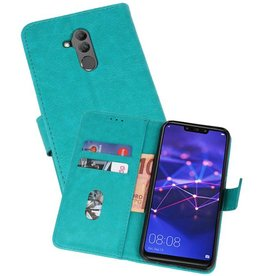 Huawei Mate 20 Lite Hoesje Kaarthouder Book Case Telefoonhoesje Groen