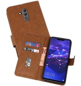 Huawei Mate 20 Lite Hoesje Kaarthouder Book Case Telefoonhoesje Bruin