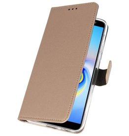 Wallet Cases Hoesje Galaxy J6 Plus Goud