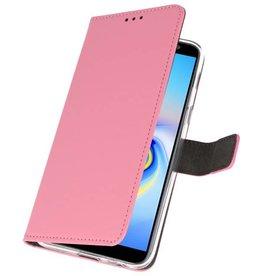Wallet Cases Hoesje Galaxy J6 Plus Roze