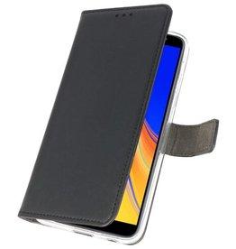 Wallet Cases Hoesje Galaxy J4 Plus Zwart
