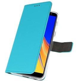 Wallet Cases Hoesje Galaxy J4 Plus Blauw