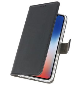 Wallet Cases Hoesje iPhone XS - X Zwart