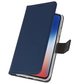 Wallet Cases Hoesje iPhone XS - X Navy